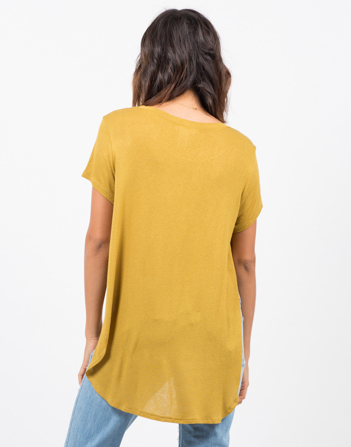 Back View of Lightweight Knit Top