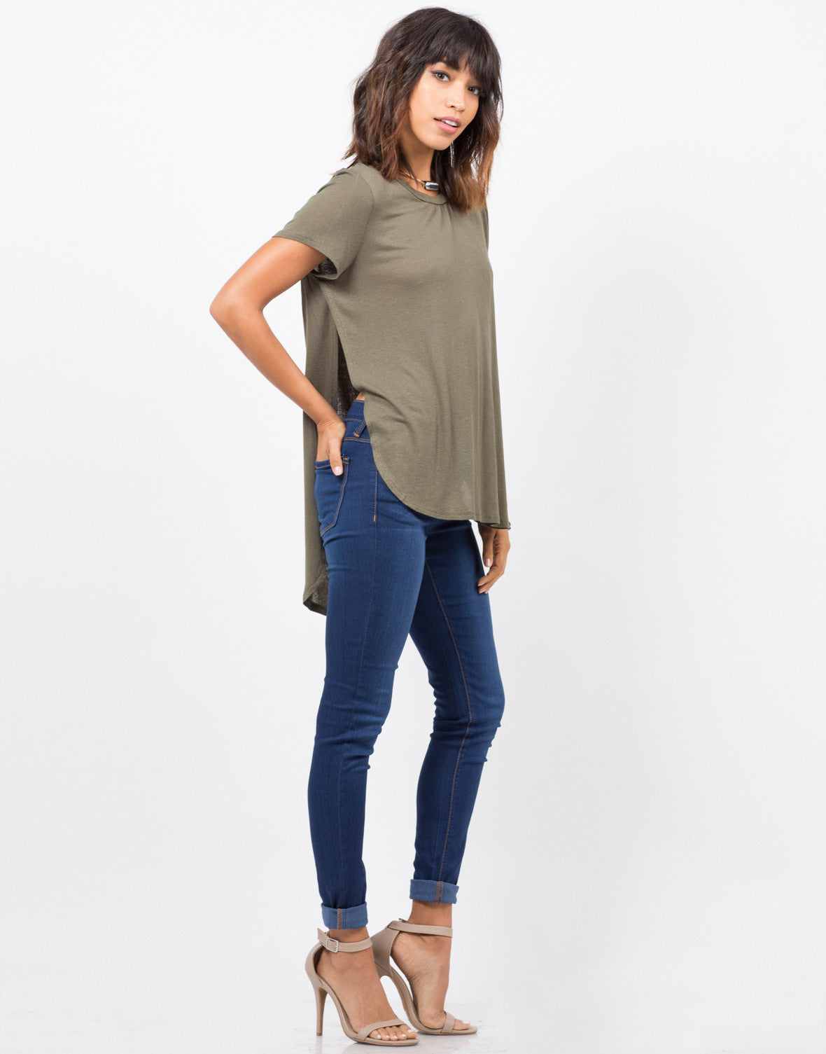 Side View of Lightweight Knit Top