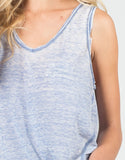 Detail of Sheer V-Neck Soft Tank