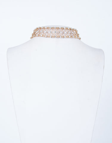 Shimmery Diamond Beaded Choker