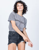 Shimmery Metallic Tee - 2020AVE
