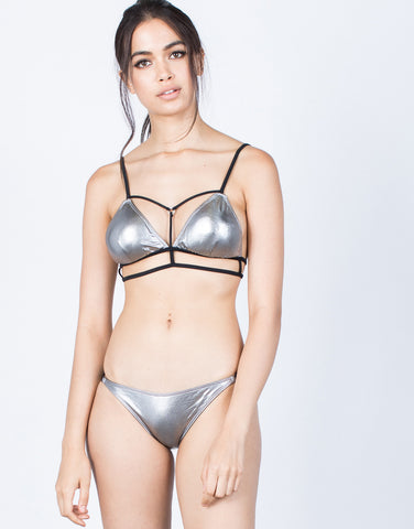 Front View of Shine Bright Bikini Set