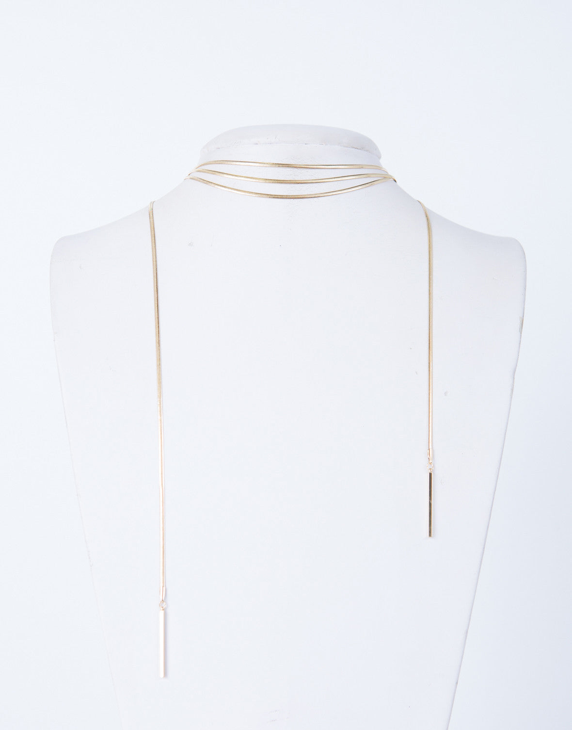 Shiny Metal Wrapped Necklace