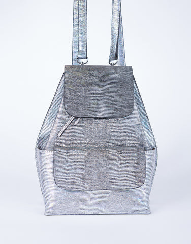 Shiny Metallic Backpack