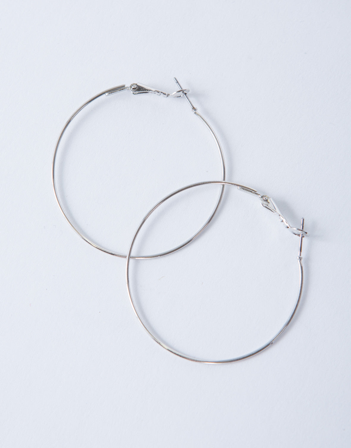 Shiny Thin Hoop Earrings