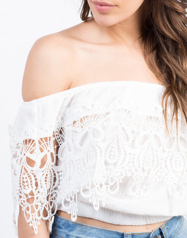 Detail of Shoulder Detailed Gauze Top