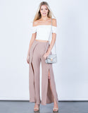 Front View of Show Me Palazzo Pants
