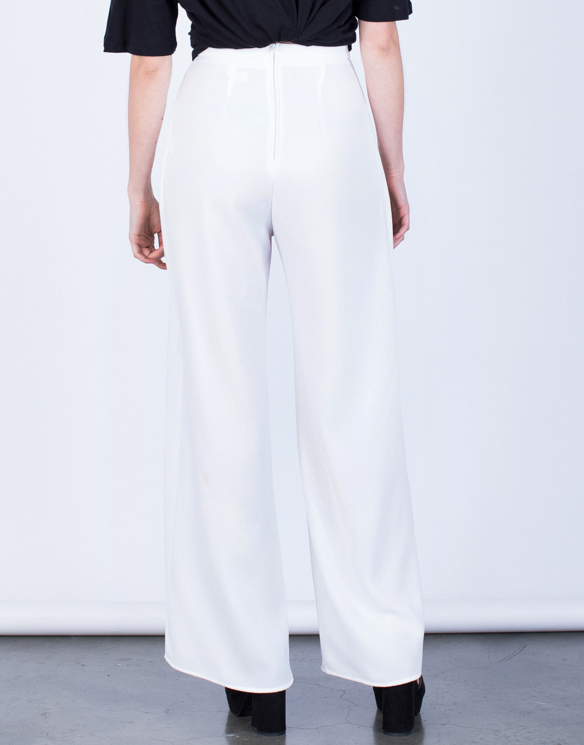 Back View of Show Me Palazzo Pants