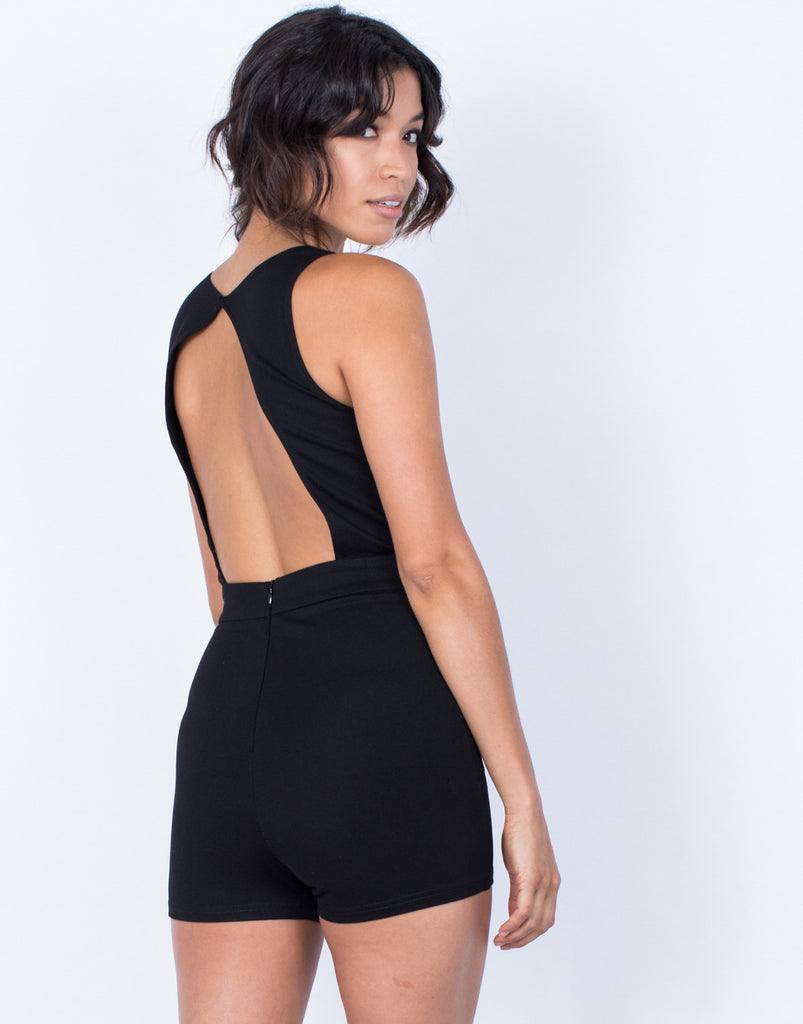 Back View of Show n' Tell Romper