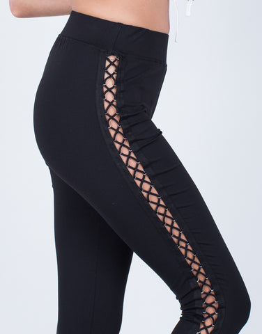 Detail of Side Lace-Up Leggings