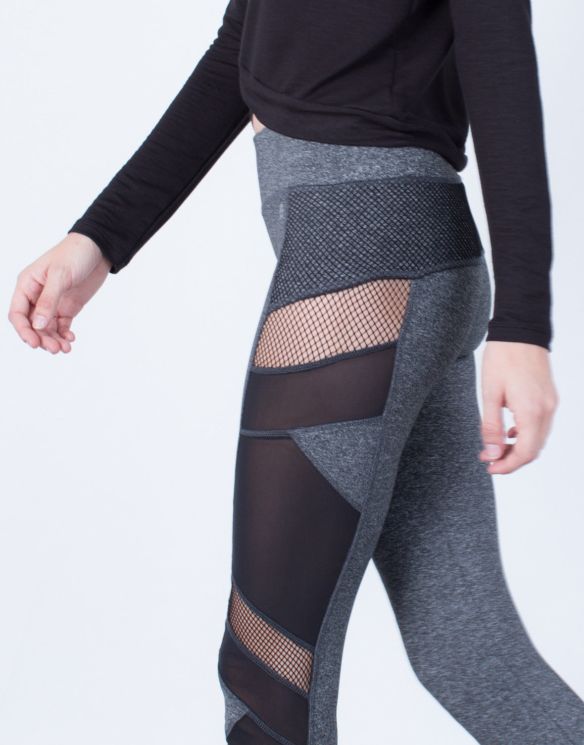 Detail of Side Mesh Activewear Leggings