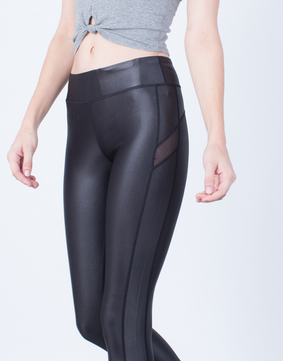 Side Mesh Paneled Leggings
