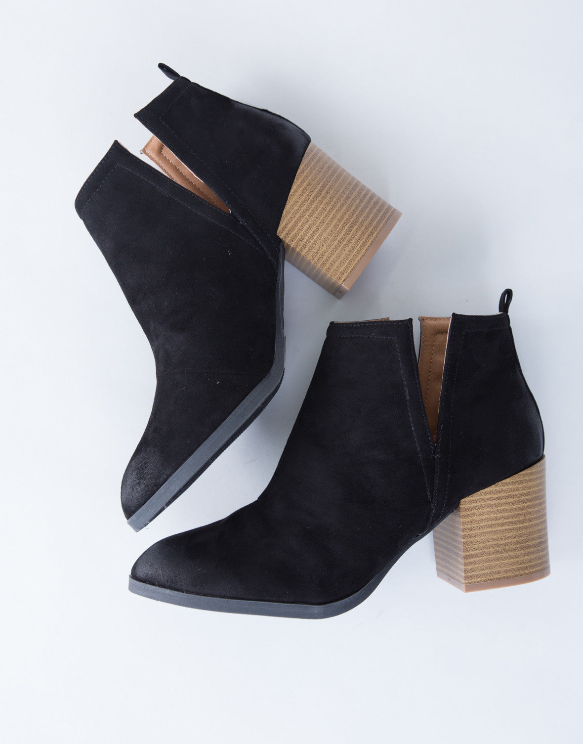 Side Slit Suede Booties