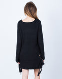Back View of Side Ties Sweater Dress