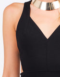 Detail of Side Cut Out Party Dress