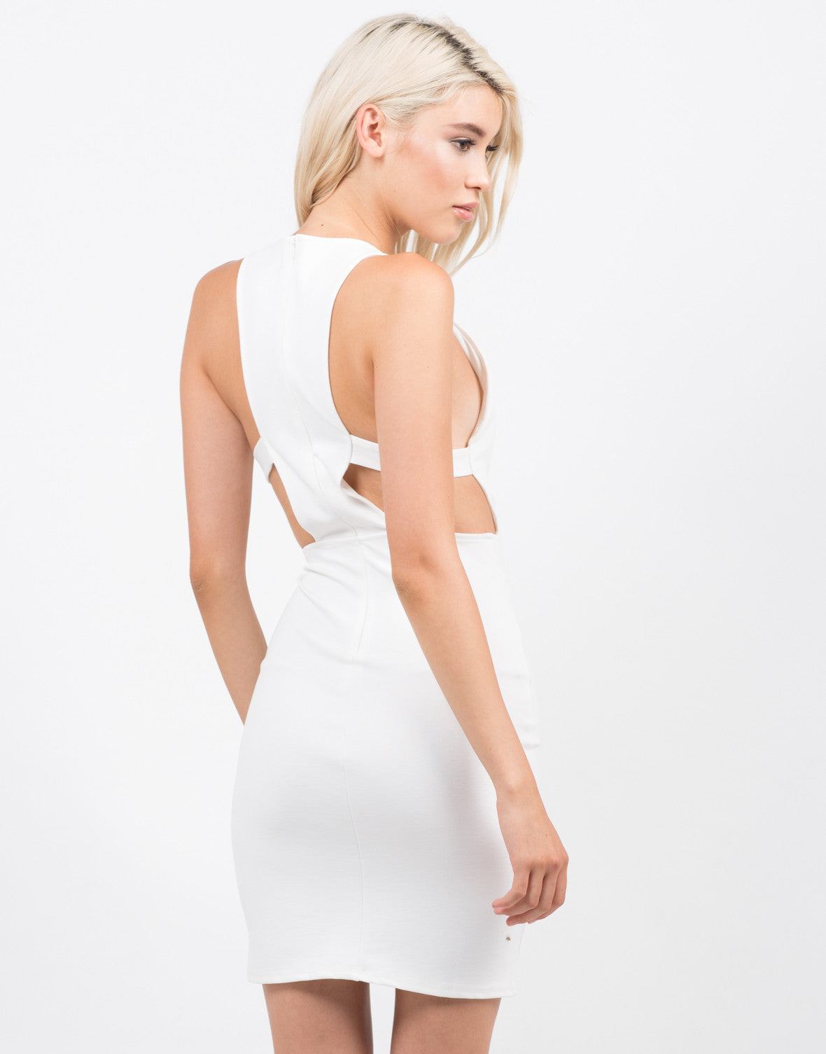 Back View of Side Cut Out Party Dress