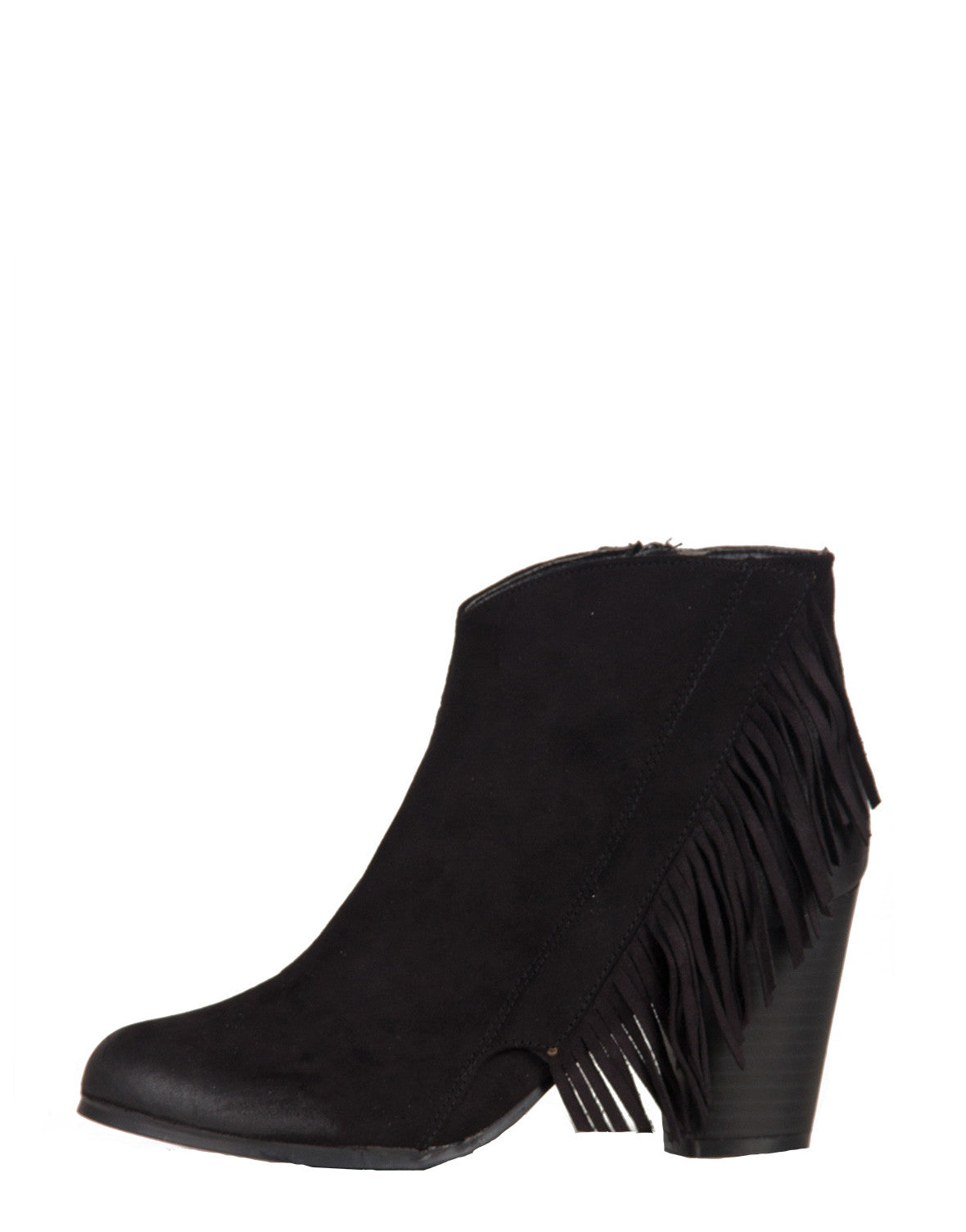 Side Fringe Ankle Booties