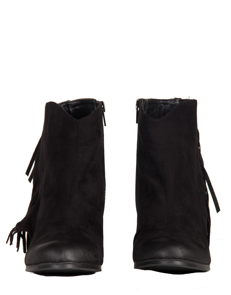 Side Fringe Ankle Booties - 2020AVE