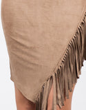 Detail of Side Fringe Tee Dress