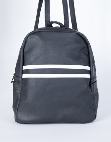 Black Sidekick Mini Backpack - Front View