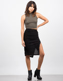 Front View of Side Lace Up Skirt