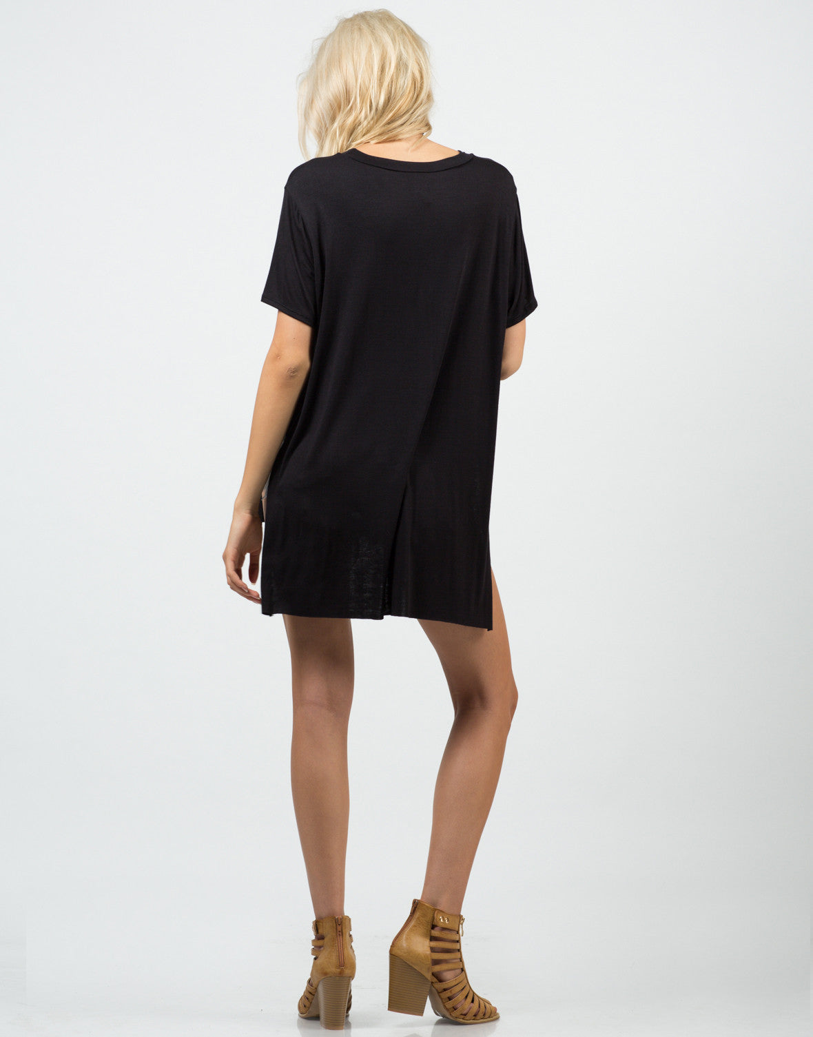 Side Slit Boyfriend Tee