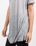 Detail of Side Twisted Tunic Tee
