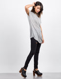 Side View of Side Twisted Tunic Tee