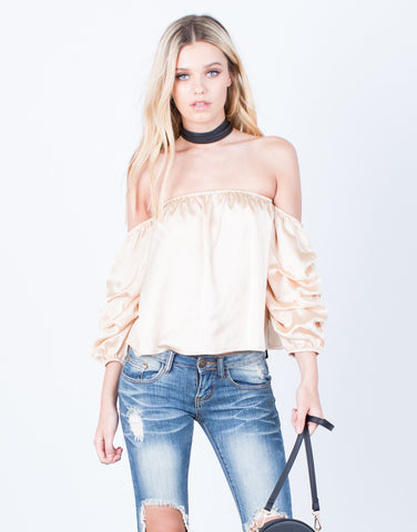 Silky Ruffled Blouse