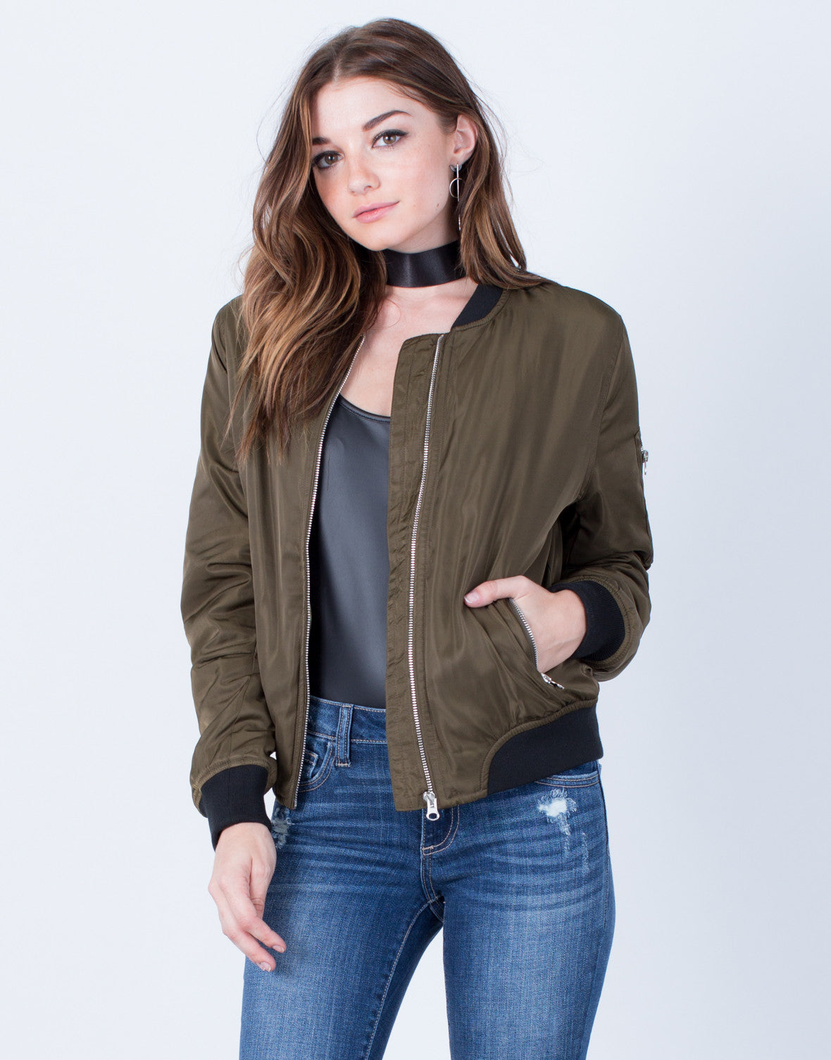 Silky Satin Bomber Jacket