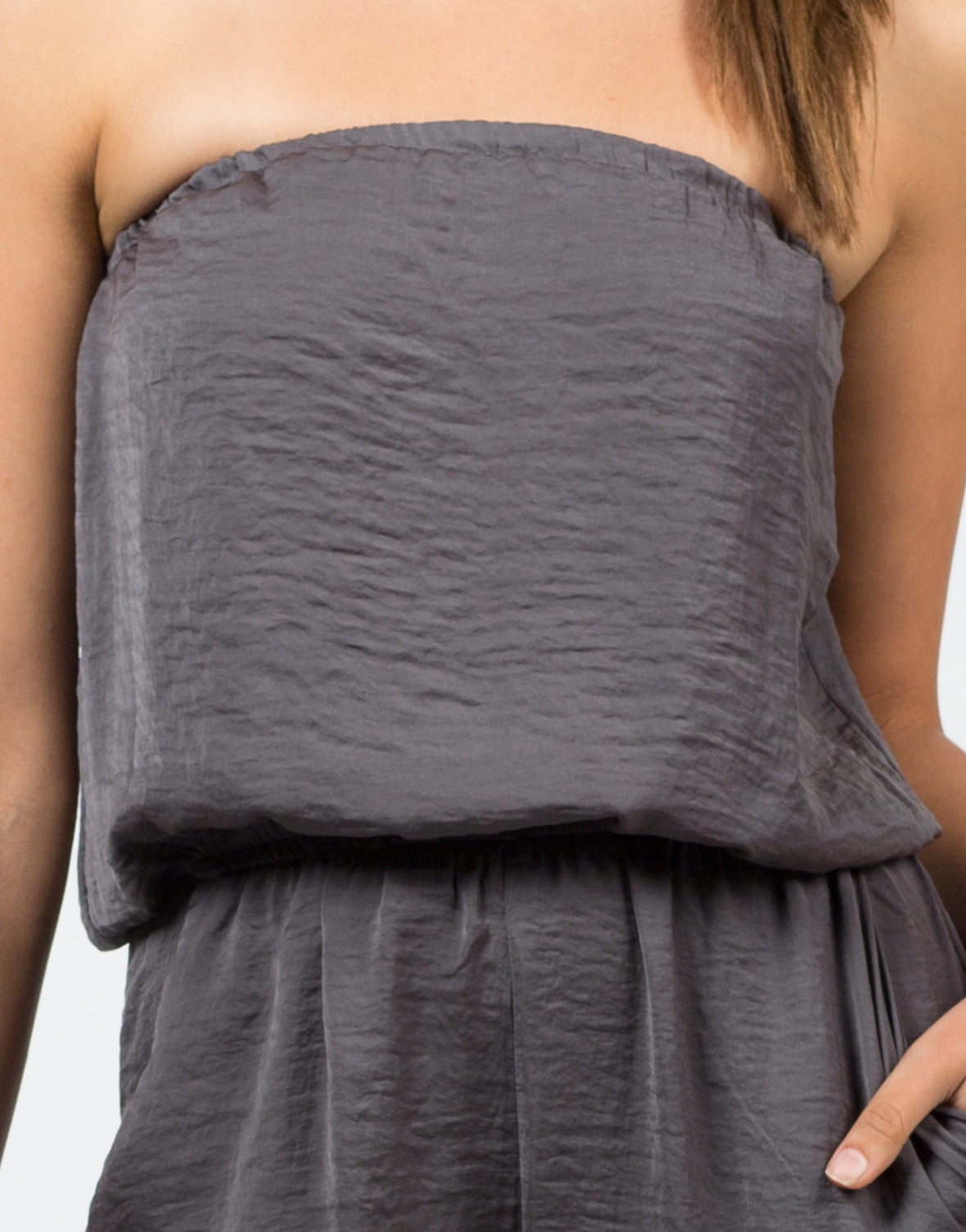 Detail of Silky Strapless Jumpsuit