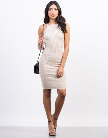 Front View of Simple Bodycon Dress