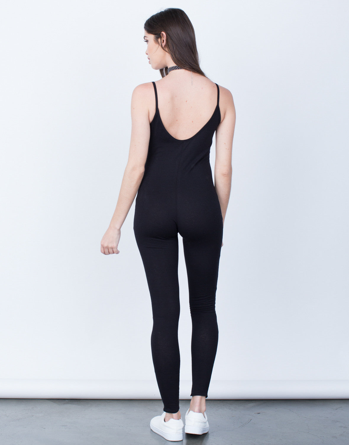 d78cf2a227ff ... Back View of Simple Cami Jumpsuit ...