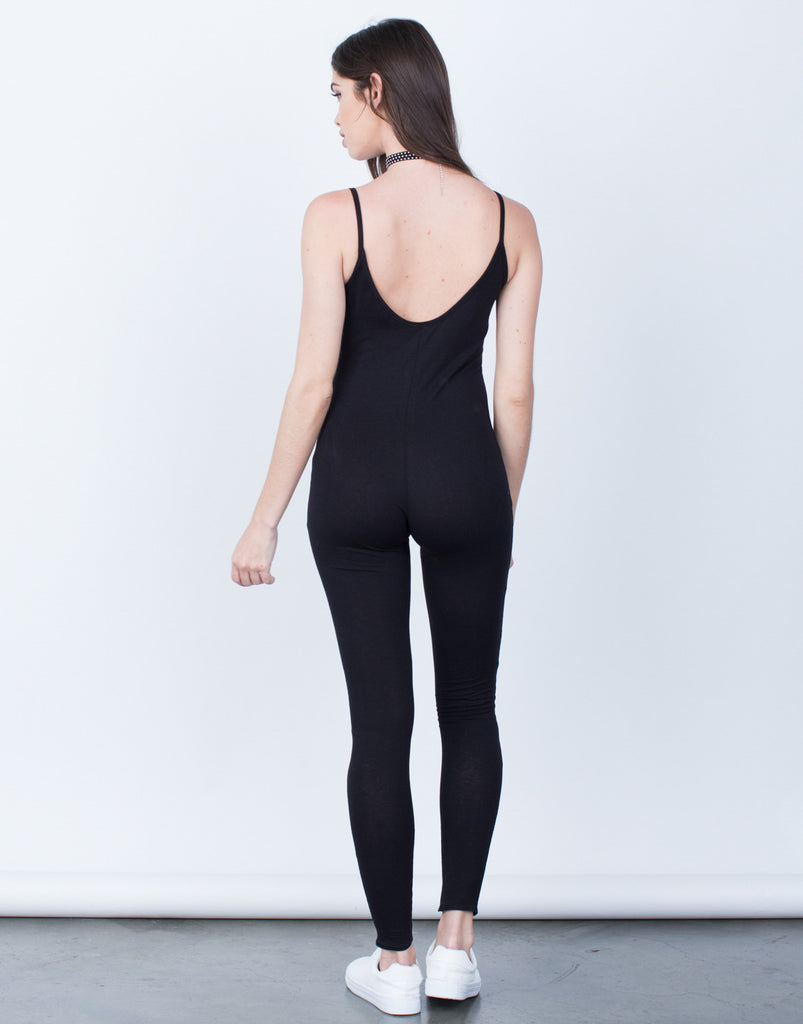 Back View of Simple Cami Jumpsuit