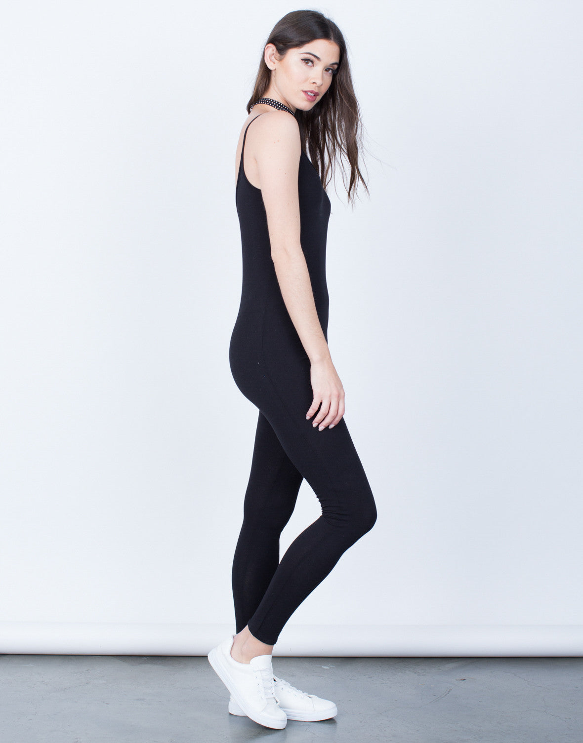 Side View of Simple Cami Jumpsuit