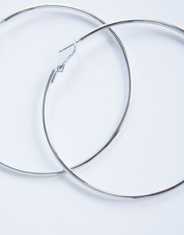 Simple Choker and Hoops Set