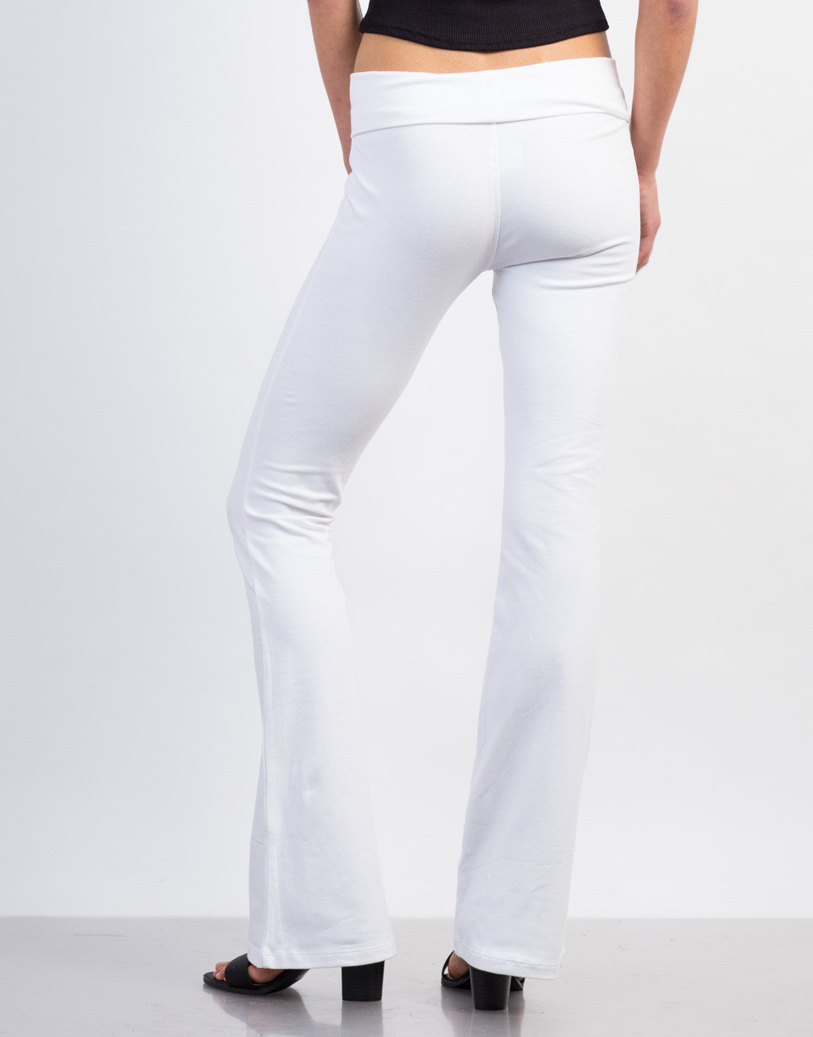 Back View of Simple Flared Pants