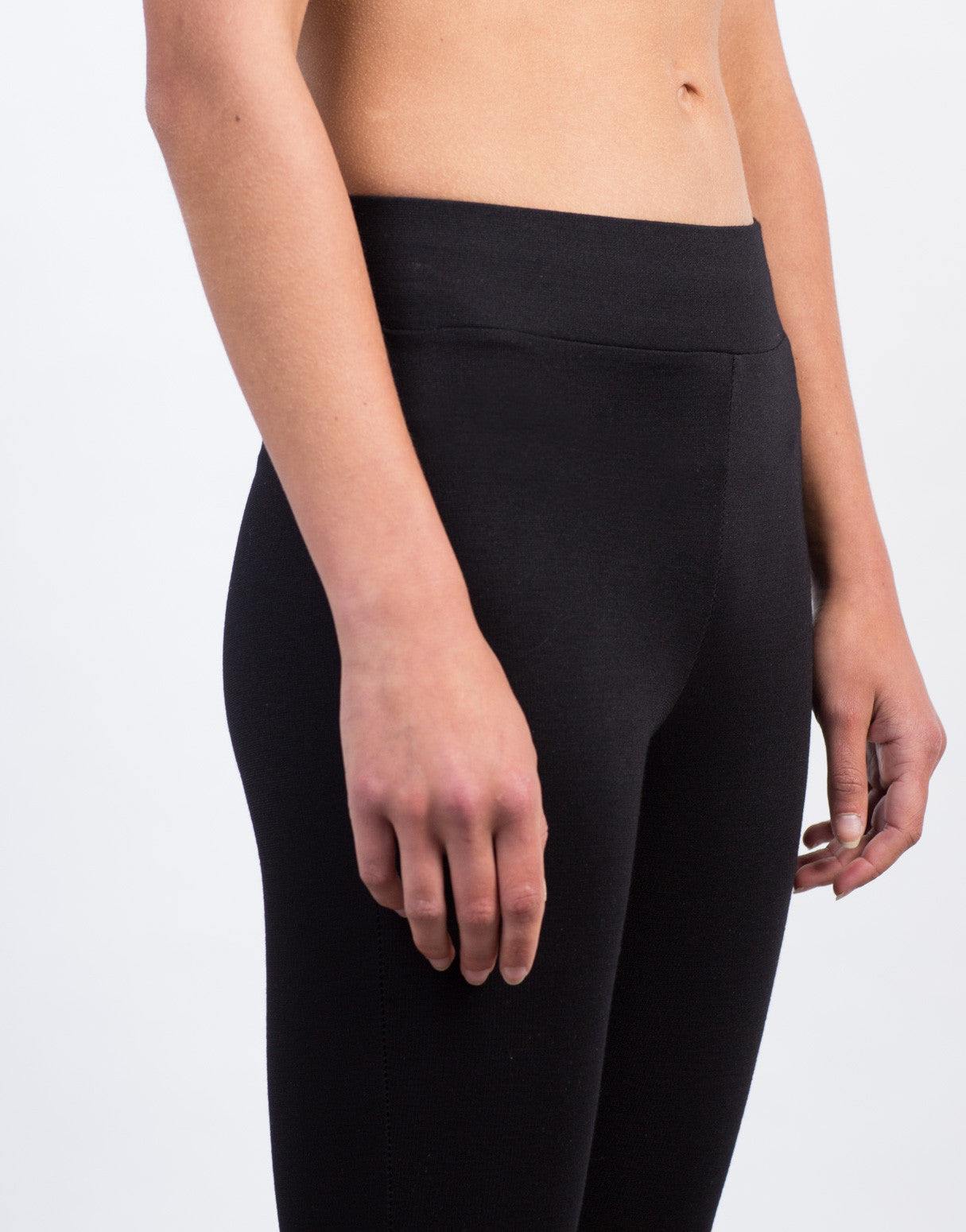 Detail of Simple High Waisted Legging Pants