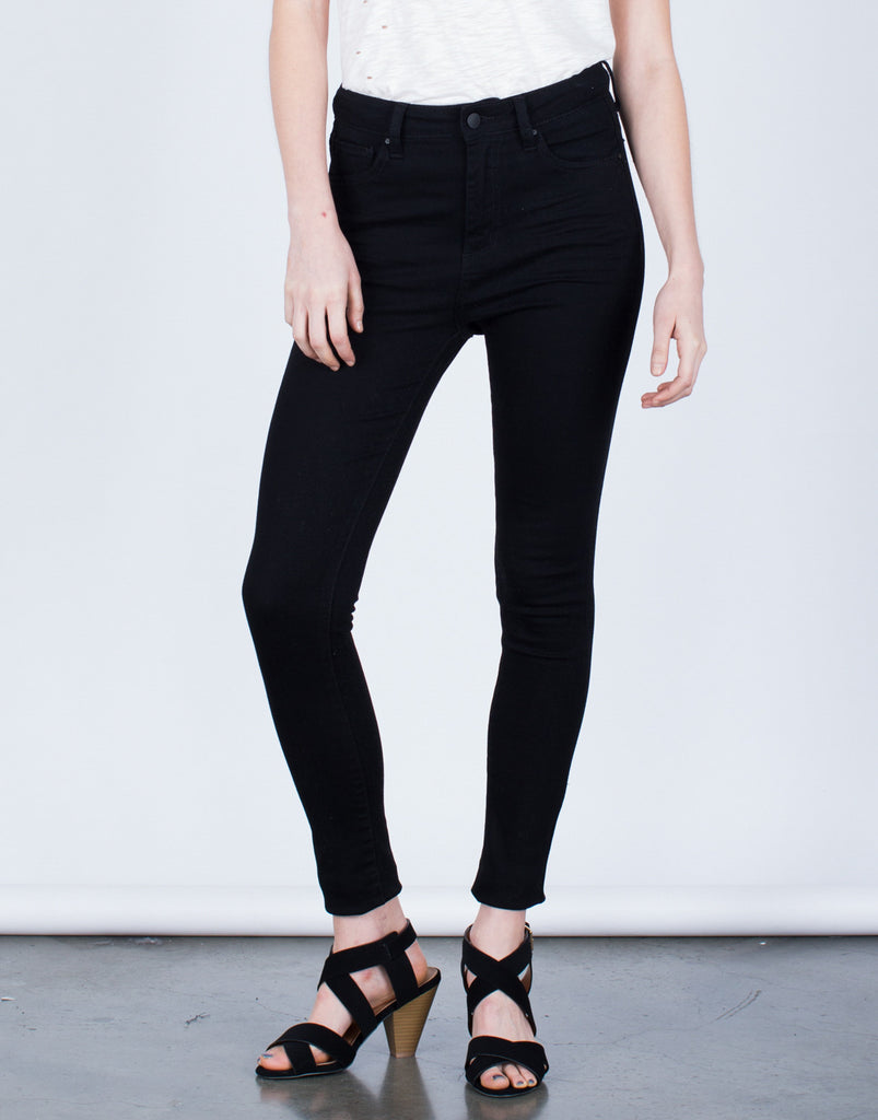 Simple High Waisted Skinny Pants - 2020AVE