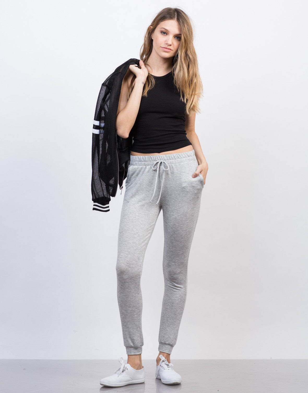 Front View of Simple Jogger Pants