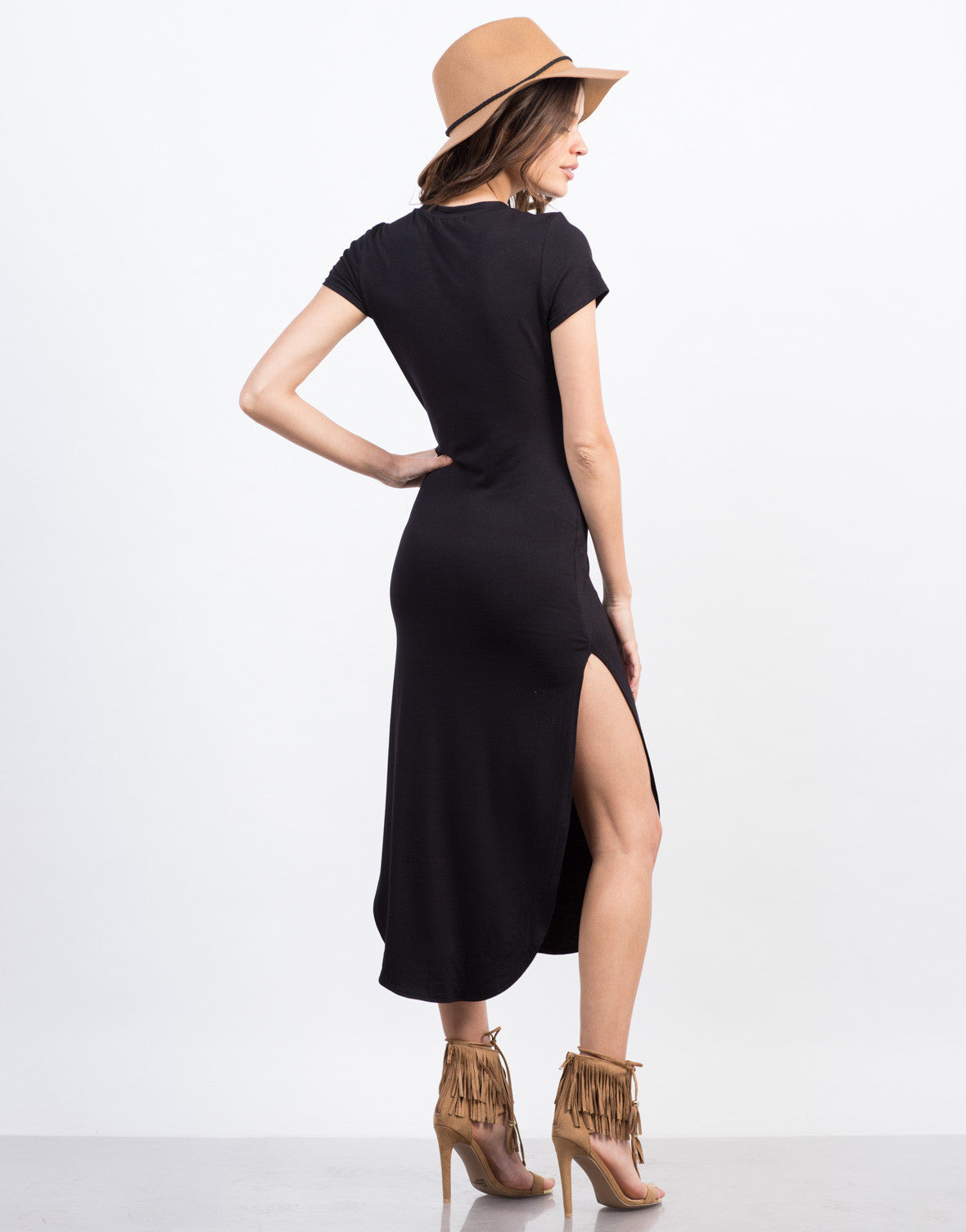 Back View of Simple Midi Dress