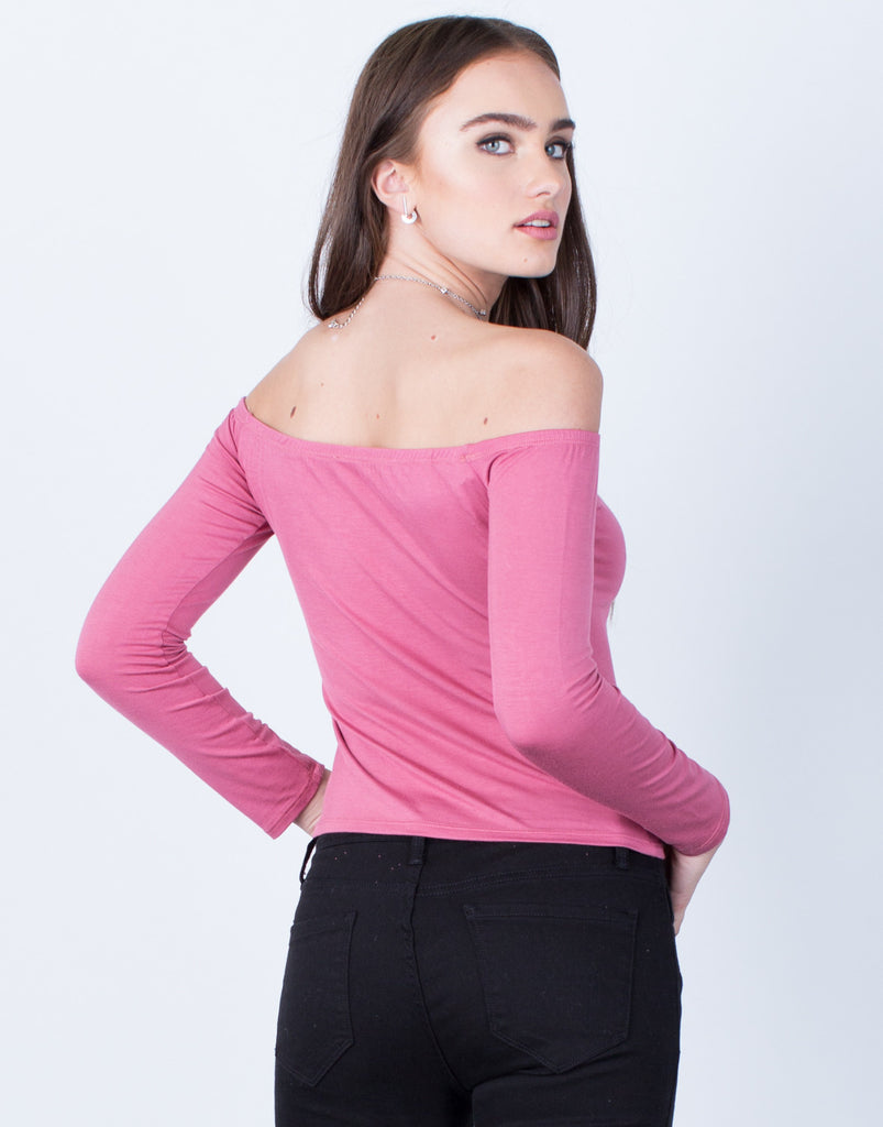 Simple Off-the-Shoulder Top - 2020AVE