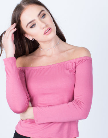 Detail of Simple Off-the-Shoulder Top