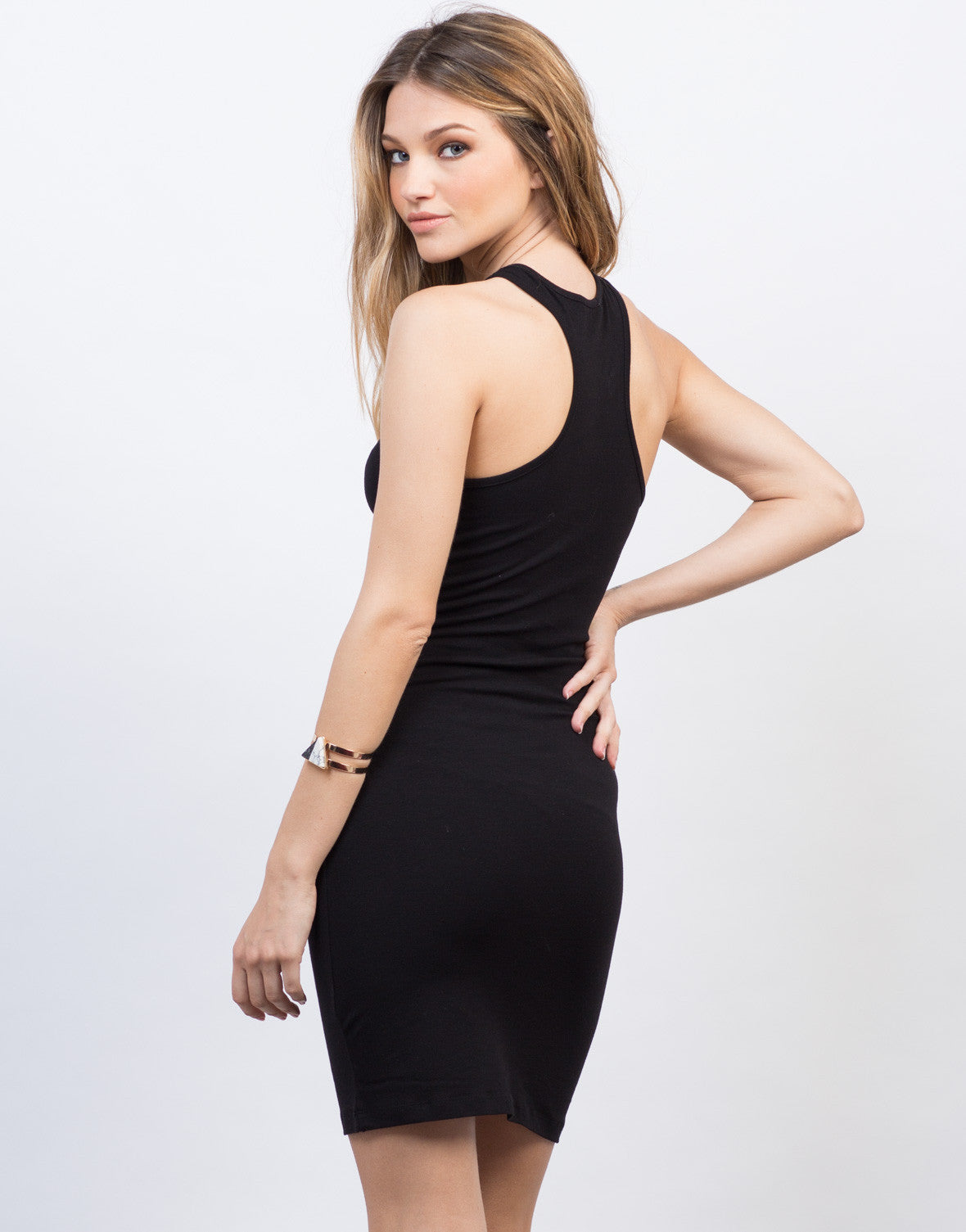 Back View of Simple Racer Tank Dress