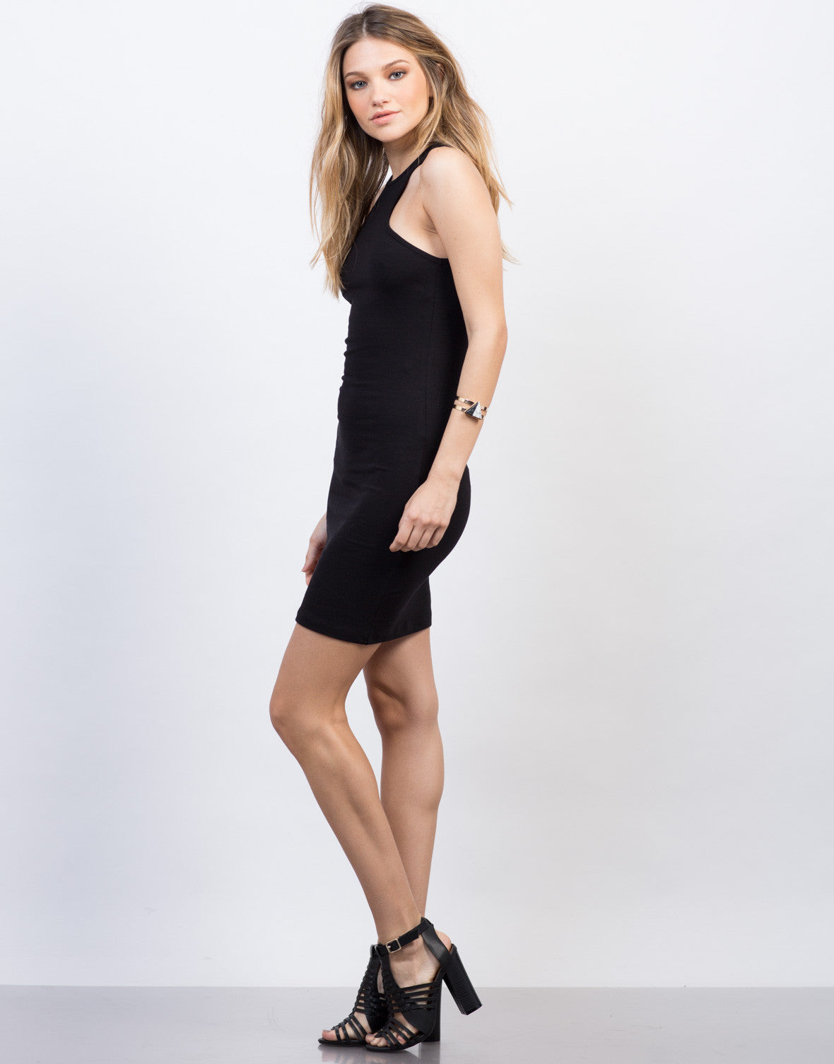 Side View of Simple Racer Tank Dress