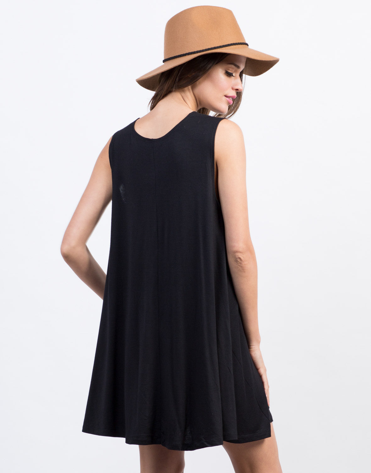 Back View of Simple Tank Dress