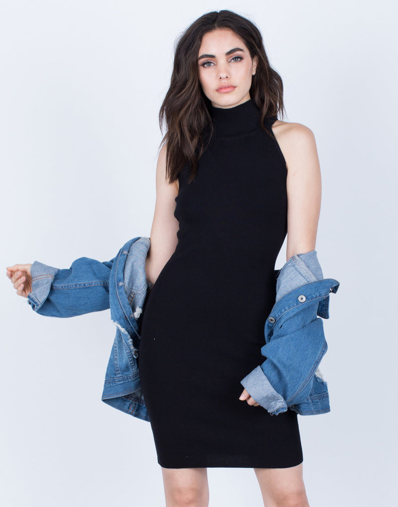 Simple Turtleneck Dress - 2020AVE