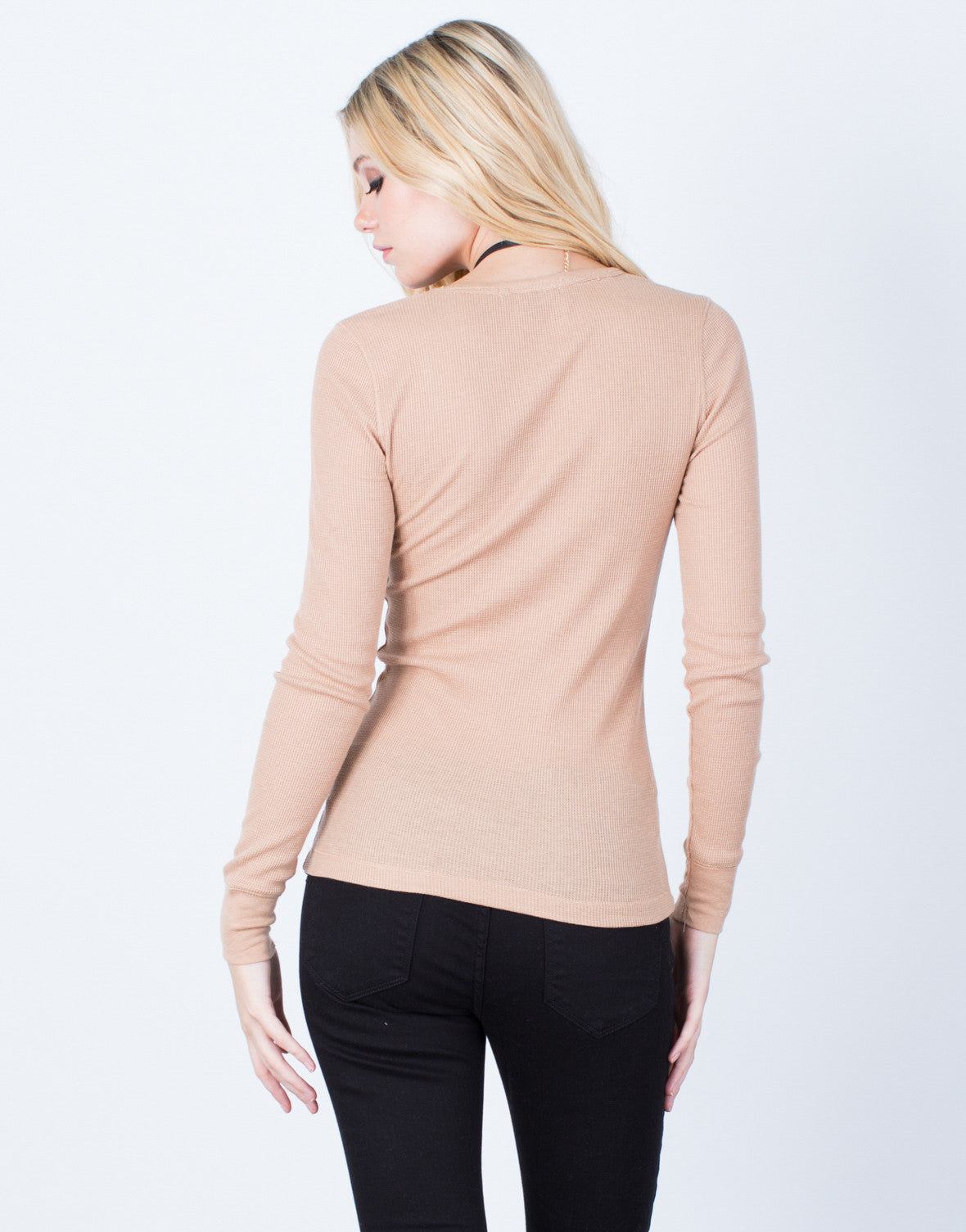 Back View of Simple Waffle Top