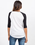 Back View of Simple Baseball Tee