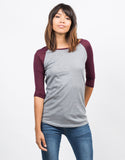 Front View of Simple Baseball Tee